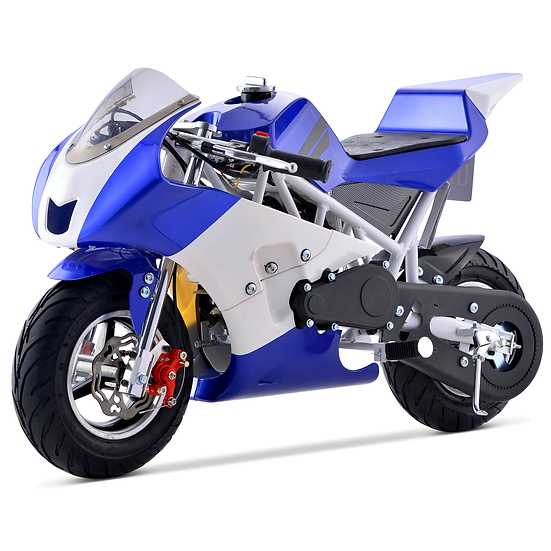 40CC Gas Pocket Bike Mini Motorcycle for Kids (Blue), EPA Registered