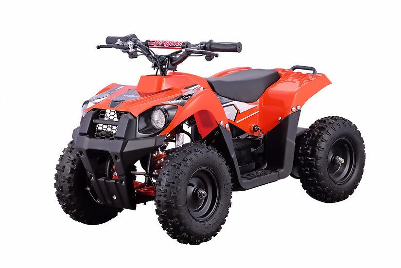 500W 36V Monster Electric ATV Mini Quad Four Wheeler for Kids (Orange)