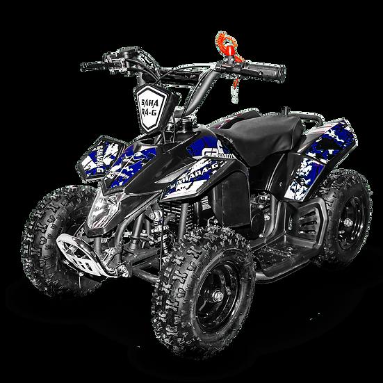 SaharaX 40CC 4-Stroke Gas ATV Four Wheeler Quad for Kids (No CA Sales), Blue