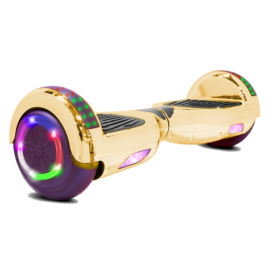 6.5'' Hoverboard with LED Lights and Bluetooth for Kids (Chrome Gold)