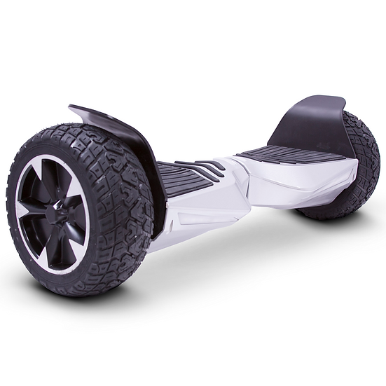 8.5'' Hoverboard with Built-in Bluetooth for Kids and Adults (Silver)