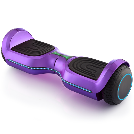 UPGRADED 6.5'' Hoverboard with LED and Built-in Bluetooth (Chrome Purple)