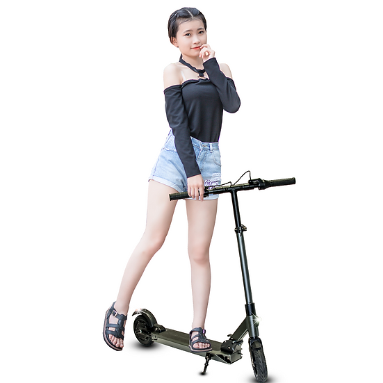 RoverX Foldable Electric Scooters for Adults, Teens, and Kids (Gray)
