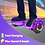 Thumbnail: 6.5'' Hoverboard with LED Lights and Bluetooth for Kids (Chrome Purple)