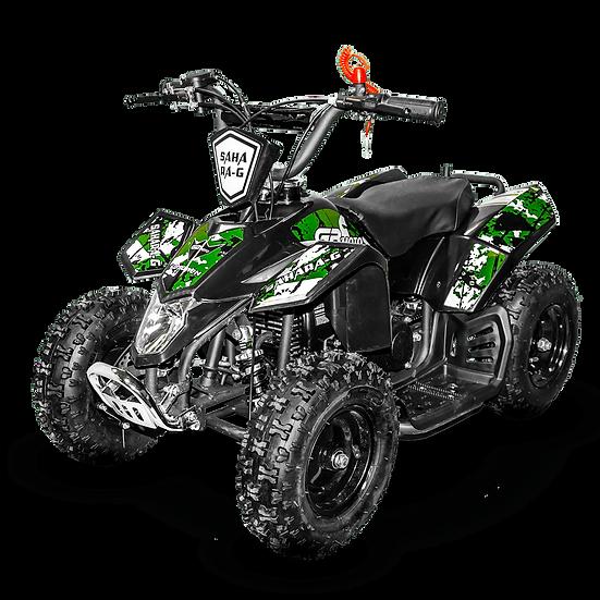 SaharaX 40CC 4-Stroke Gas ATV Four Wheeler Quad for Kids (No CA Sales), Green