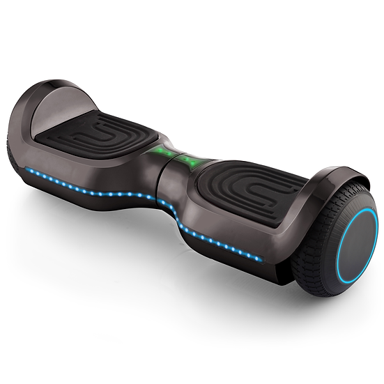 UPGRADED 6.5'' Hoverboard with LED and Built-in Bluetooth (Chrome Black)