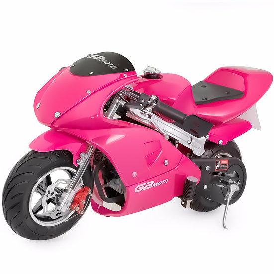 40CC Gas Pocket Bike Mini Motorcycle for Kids (Pink), EPA Registered