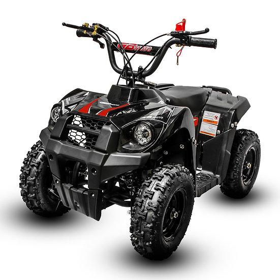 Monster 40CC 4-Stroke Gas ATV Four Wheeler Quad for Kids (No CA Sales), Red
