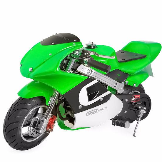 40CC Gas Pocket Bike Mini Motorcycle for Kids (Green), EPA Registered