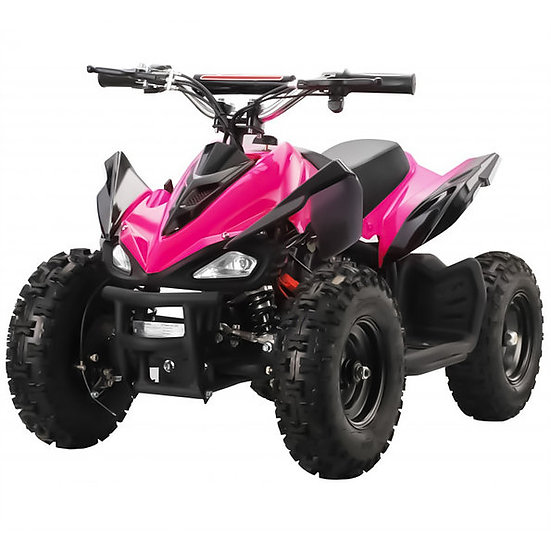 350W 24V Mars Electric ATV Mini Quad Four Wheeler for Kids (Pink)