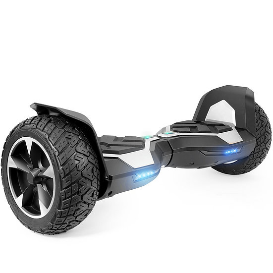 8.5'' Ninja Hoverboard with Built-in Bluetooth for Kids and Adults (Silver)