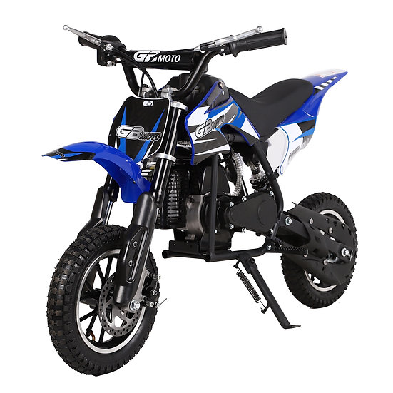 2-Stroke 49CC Kids Gas Dirt Bike (EPA Registered, NO CA sales), Blue