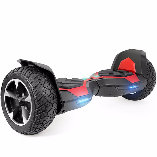8.5'' Ninja Hoverboard with Built-in Bluetooth for Kids and Adults (Red)