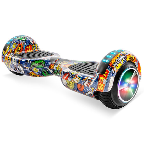 6.5'' Hoverboard with LED Lights and Bluetooth for Kids (Comic Pattern)