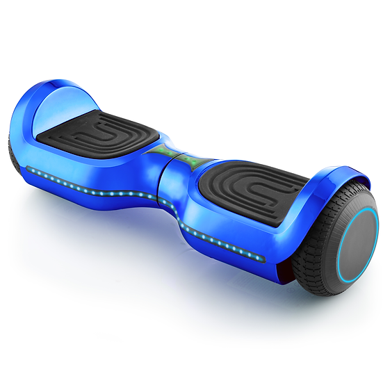 UPGRADED 6.5'' Hoverboard with LED and Built-in Bluetooth (Chrome Blue)