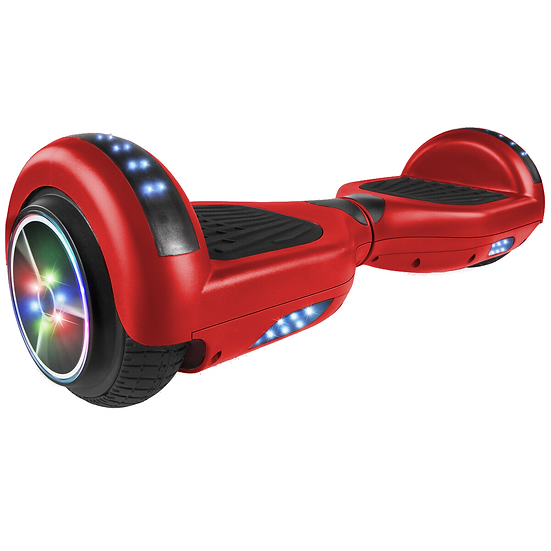 6.5'' Hoverboard with LED Lights and Bluetooth for Kids (Matte Red)