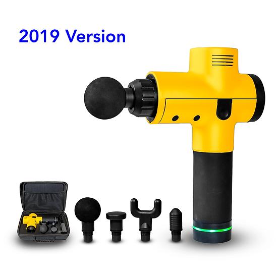 3-Speed Cordless Handheld Massage Gun (Yellow)