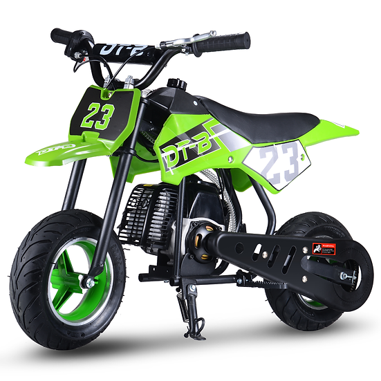 2-Stroke 51CC Gas Dirt Bike Mini Motorcycle (EPA Registered, NO CA Sales), Green