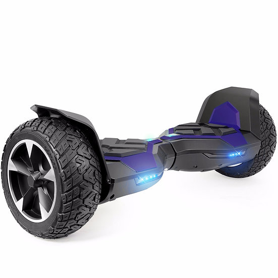 8.5'' Ninja Hoverboard with Built-in Bluetooth for Kids and Adults (Blue)