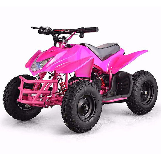 350W 24V Titan Electric ATV Mini Quad Four Wheeler for Kids (Pink)