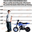 Thumbnail: 2-Stroke 51CC Gas Dirt Bike Mini Motorcycle (EPA Registered, NO CA Sales), Blue