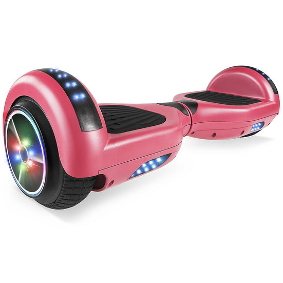 6.5'' Hoverboard with LED Lights and Bluetooth for Kids (Matte Pink)