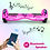 Thumbnail: 6.5'' Hoverboard with LED Lights and Bluetooth for Kids (Chrome Pink)