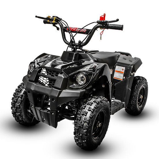 Monster 40CC 4-Stroke Gas ATV Four Wheeler Quad for Kids (No CA Sales), White