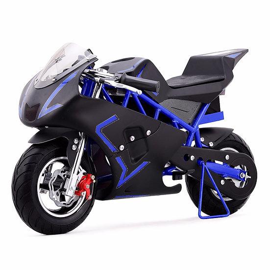 36V 500W Electric Pocket Bike Mini Motorcycle for Kids (Blue/Black)
