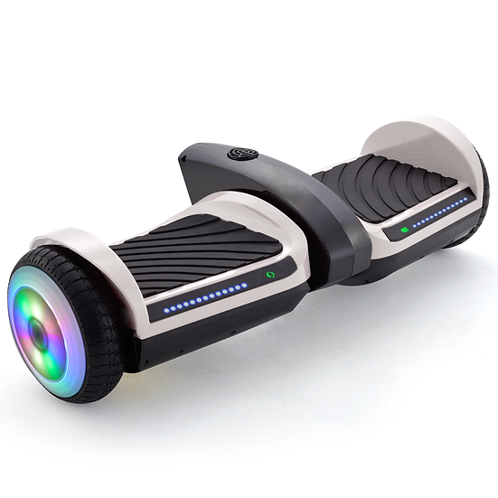 6.5'' Hoverboard with Mist Spray, Sound, and Built-in Bluetooth (White)
