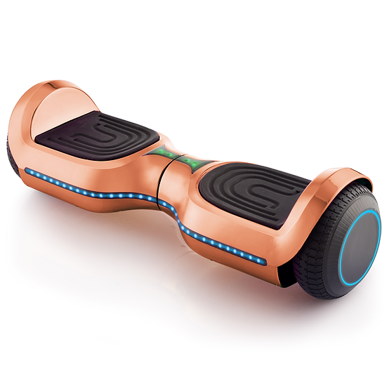 UPGRADED 6.5'' Hoverboard with LED and Built-in Bluetooth (Chrome Rose Gold)