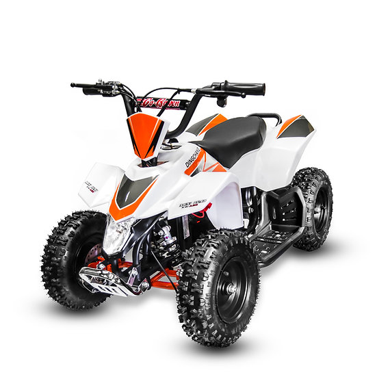 350W 24V SaharaX Electric ATV Mini Quad Four Wheeler for Kids (White)