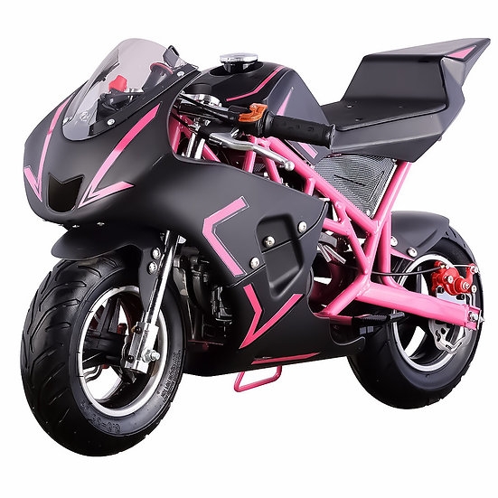 40CC Gas Pocket Bike Mini Motorcycle for Kids (Pink/Black), EPA Registered