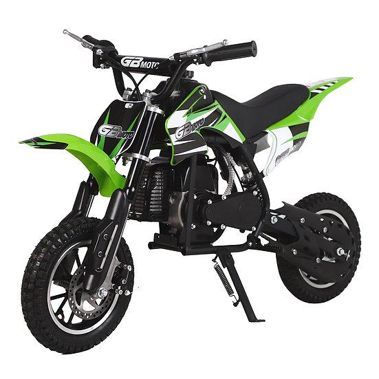 2-Stroke 49CC Kids Gas Dirt Bike (EPA Registered, NO CA sales), Green