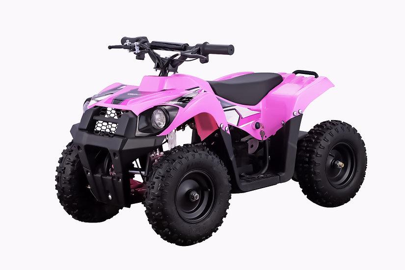 500W 36V Monster Electric ATV Mini Quad Four Wheeler for Kids (Pink)