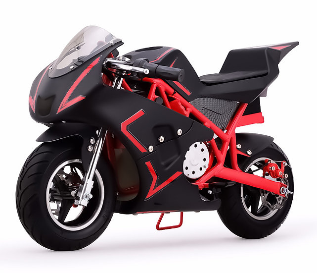 40CC Gas Pocket Bike Mini Motorcycle for Kids (Red/Black), EPA Registered