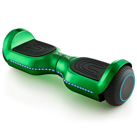 UPGRADED 6.5'' Hoverboard with LED and Built-in Bluetooth (Chrome Green)