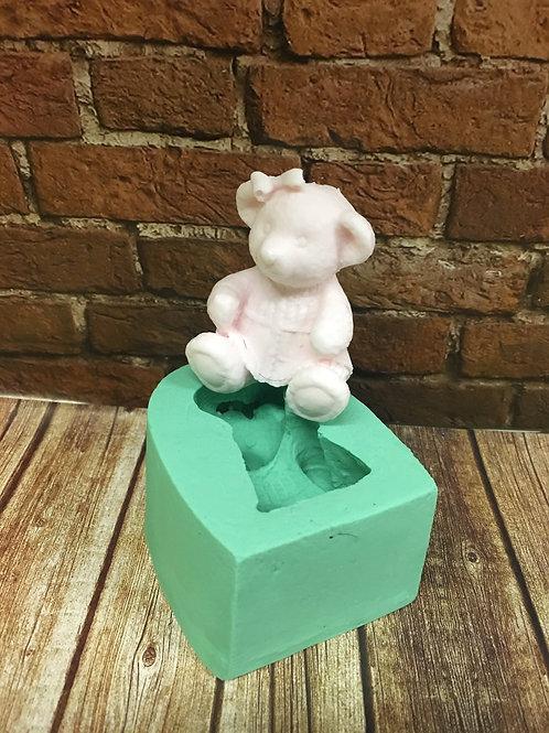 Molde de Silicone - Urso Menina