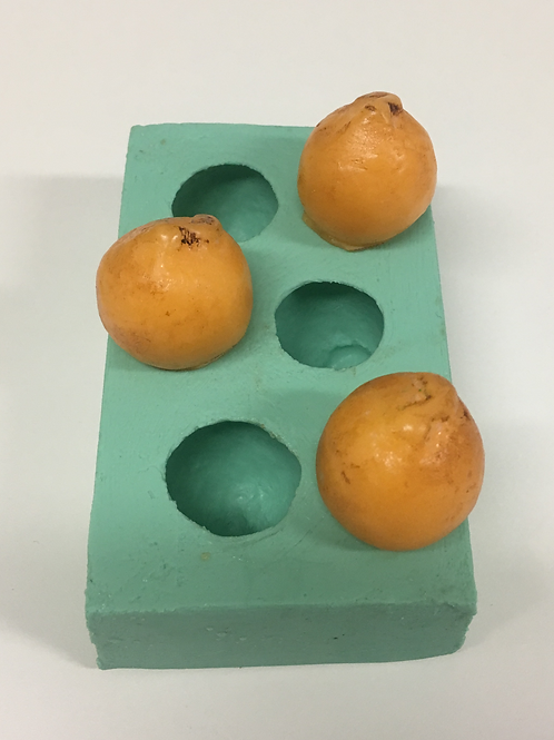 Molde de Silicone - Mini Laranja 3 cavidades