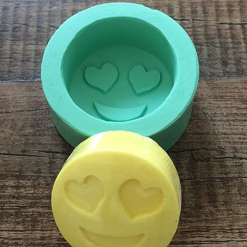 Molde de Silicone - Emoji Apaixonado