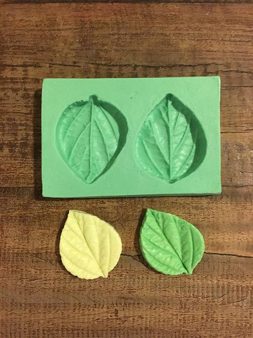 Molde de Silicone - Folhas de Hortelã Grande 2 cav