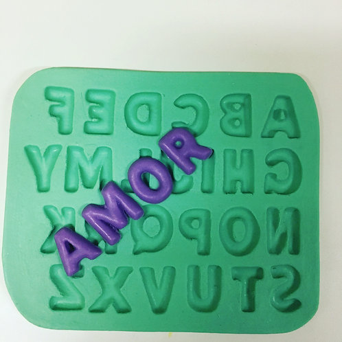 Molde de Silicone - Letras do Alfabeto