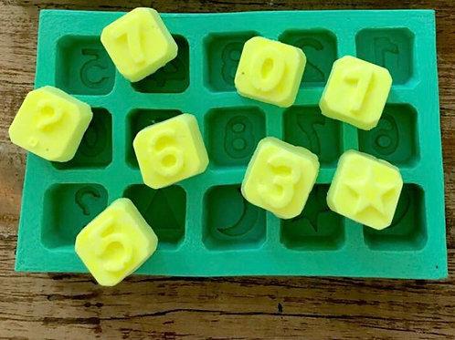 Molde de Silicone - Numeros Cubo