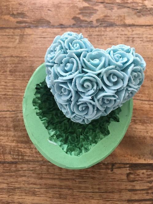 Molde de Silicone - Coracao Floral Provance