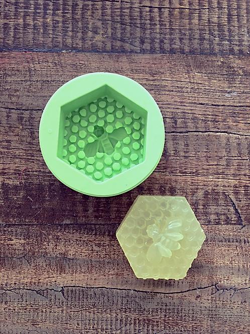 Molde de Silicone - Colméia com abelha