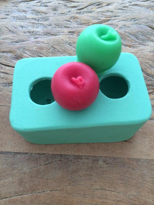 Molde de Silicone - Mini Maçãs