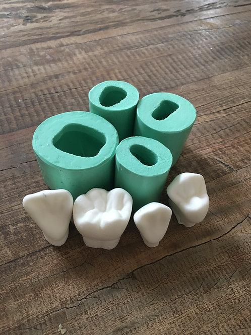 Molde de Silicone - Dentes 4 Tipos
