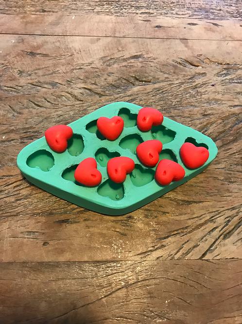 Molde de Silicone - Mini Coração 12 cav