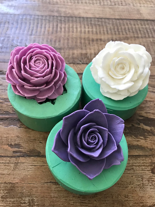 Molde de Silicone - Kit 3 Rosas