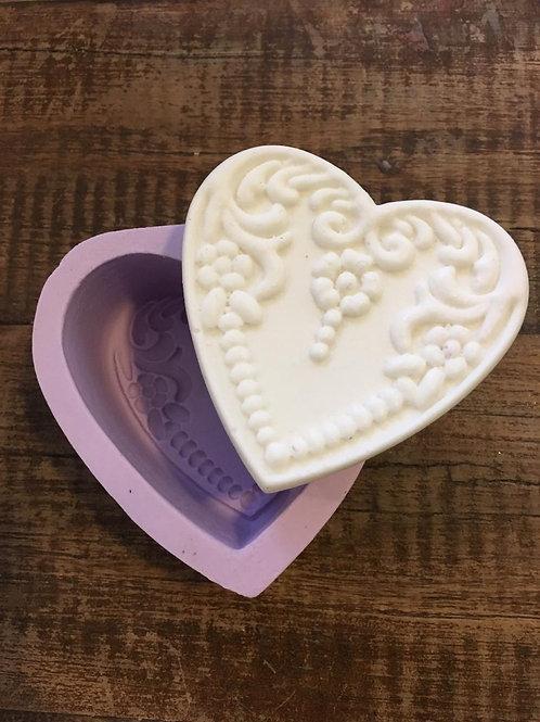 Molde de Silicone - Coração Luxo M